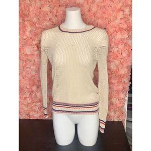 Willow and Clay Medium Net Cream Shirt